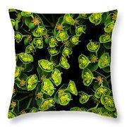 Martian Plants Against Black Throw Pillow