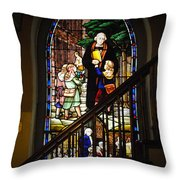 Martin Luther At Historic Zion Throw Pillow