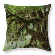 Marvelous Moss Throw Pillow