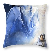 Mary Magdalene Throw Pillow by Miki De Goodaboom