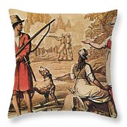 Mary Read And Anne Bonny, 18th Century Throw Pillow