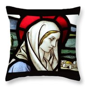 Mary Tears Throw Pillow