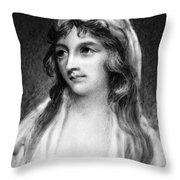 Mary Tighe (1772-1810) Throw Pillow