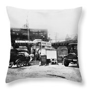 Maryland: Gas Station, C1921 Throw Pillow