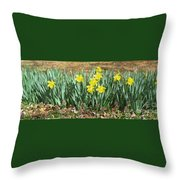 Mary's Daffodils Throw Pillow