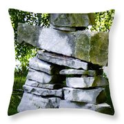 Mary's Inukshuk Throw Pillow