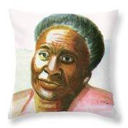 Maryse Conde Throw Pillow