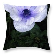 Mascara And Lace Anemone Throw Pillow