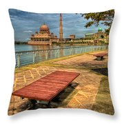 Masjid Putra Throw Pillow by Adrian Evans