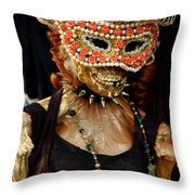 Mask Ball Throw Pillow