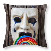 Mask Licking Sucker Throw Pillow