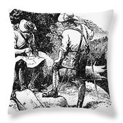 Mason And Dixon, 1763-67 Throw Pillow