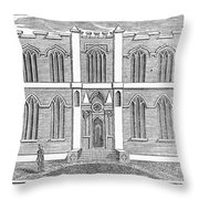 Masonic Hall, C1830 Throw Pillow