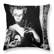 Masque Of Evil Throw Pillow