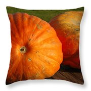 Mass Pumpkins Throw Pillow
