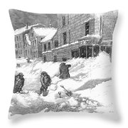 Massachusetts: Blizzard Throw Pillow