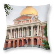 Massachusetts State House I Throw Pillow