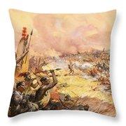 Massacre At Ulundi Throw Pillow