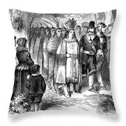 Massasoit (d. 1661) Throw Pillow