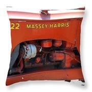 Massey Harris Details Throw Pillow