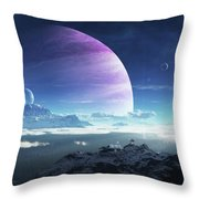 Massive Lei Gong Rises In The Distance Throw Pillow