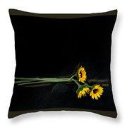 Master Sunflowers Throw Pillow