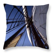 Masthead Throw Pillow by Skip Willits