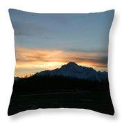 Matanuska Sunrise Throw Pillow