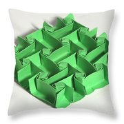 Mathematical Origami Throw Pillow