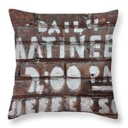 Matinees Throw Pillow
