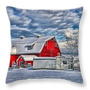 Matsqui Barn Hdr Throw Pillow