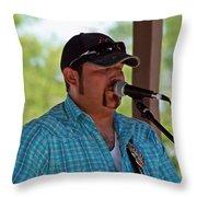 Matt Hawk At Fiddlin' Frenchie Burke Festival Throw Pillow