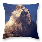 Matterhorn Morning-2 Throw Pillow