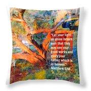 Matthew 5 Throw Pillow