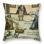 Matthew Hopkins (d. 1647) Throw Pillow