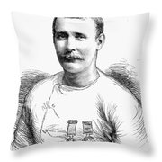 Matthew Webb (1848-1883) Throw Pillow
