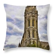 Matthias Church Tower - Budapest Throw Pillow