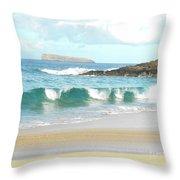 Maui Hawaii Beach Throw Pillow by Rebecca Margraf