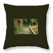 Maui Highway Throw Pillow by Marilyn Wilson