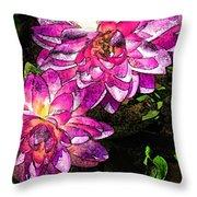 Maui Pink Garden Throw Pillow