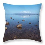 Maui Rocky Shore Throw Pillow