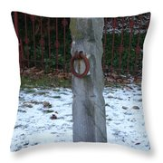 Mauricetown Hitching Post  Throw Pillow