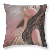 Mauve Lights Throw Pillow by Julie Brugh Riffey