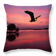 Mauve Sundown Eagle  Throw Pillow