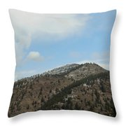 May In The Rockies Throw Pillow