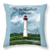 May The Magnificent Lighthouse  Throw Pillow