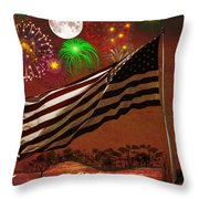 May Your Colors Run Deep And Far Throw Pillow