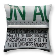 May Your Thoughts Throw Pillow