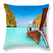 Maya Bay Throw Pillow