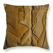Maya Prays To The Gods On The Wall Throw Pillow